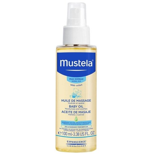 Mustela Масло массажное, 100 мл mustela цена в россии