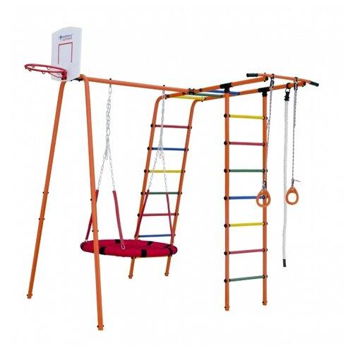 Купить Спортивно-игровой комплекс Формула здоровья Street 1, оранжевый/радуга, Игровые и спортивные комплексы и горки