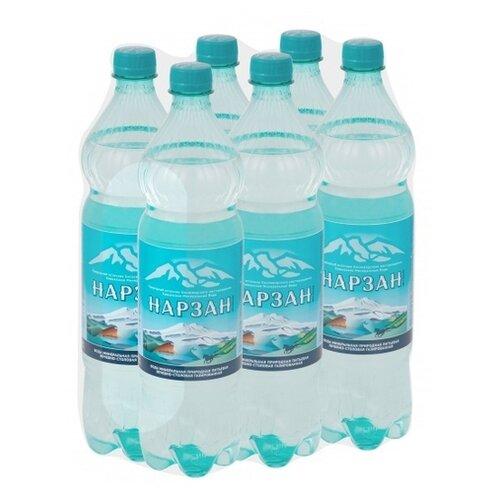 Вода минеральная Тэсти Нарзан газированная, ПЭТ, 6 шт. по 1.5 л
