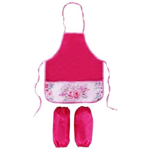 ArtSpace Фартук с нарукавниками Нежные цветы (ФС_280824/ФМ_280824) розовый, Одежда для уроков труда  - купить со скидкой