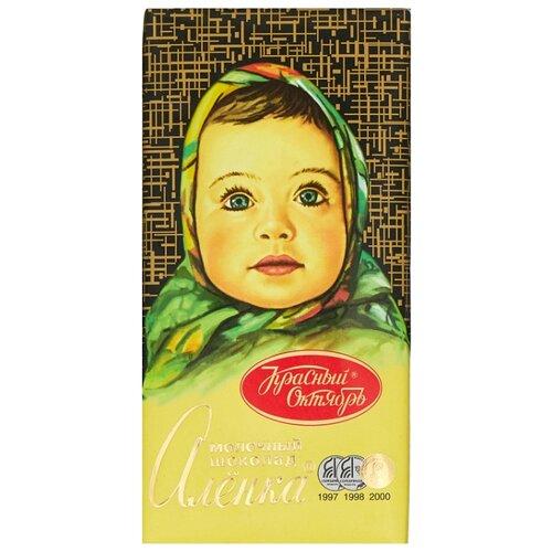 Шоколад Алёнка молочный 30% какао, 100 г фото