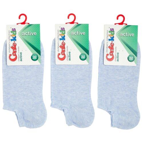 Купить Носки Conte-kids комплект 3 пары размер 22, светло-голубой