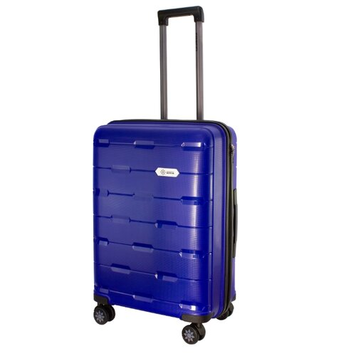 Чемодан PROFFI Tour Fashion M 62 л, синий чемодан proffi business lady m 63 л розовый