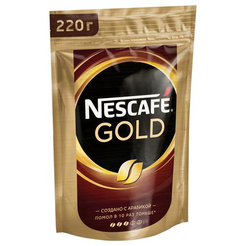 Кофе растворимый Nescafe Gold, пакет, 220 г nescafe gold 100