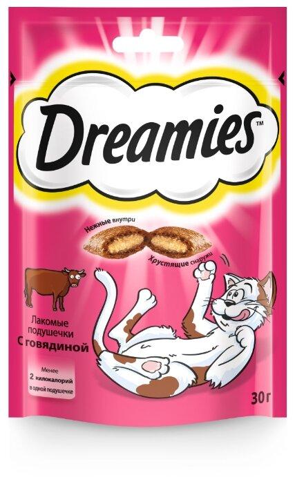 Лакомство для кошек Dreamies Подушечки с говядиной
