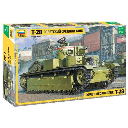 Сборная модель ZVEZDA Советский средний танк Т-28 (3694) 1:35 сборная модель zvezda советский средний танк т 34 76 обр 1942 г 3535pn 1 35
