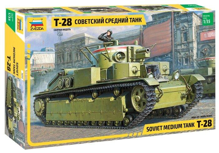 Сборная модель ZVEZDA Советский средний танк Т-28 (3694) 1:35