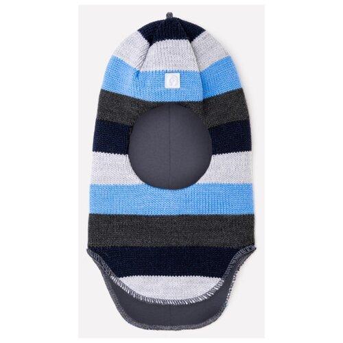 Купить Шапка crockid размер 46-48, темно-голубой/серый, Головные уборы