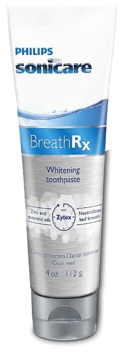 Philips Breath Rx отбеливающая зубная паста, 85 мл