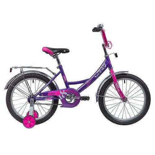 Детский велосипед Novatrack Vector 18 (2019) лиловый (требует финальной сборки) детский велосипед novatrack vector 18 2019 серебристый требует финальной сборки