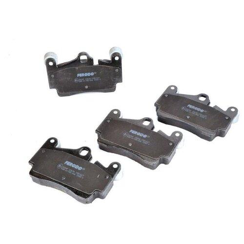 Дисковые тормозные колодки задние Ferodo FDB1627 для Volkswagen Touareg, Porsche Cayenne, Audi Q7 (4 шт.) тормозные колодки дисковые kotl 1546kt