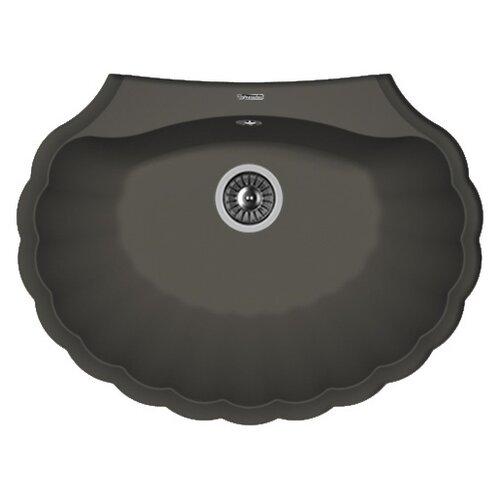 Фото - Врезная кухонная мойка 69.5 см FLORENTINA Гребешок антрацит врезная кухонная мойка 69 5 см florentina гребешок мокко