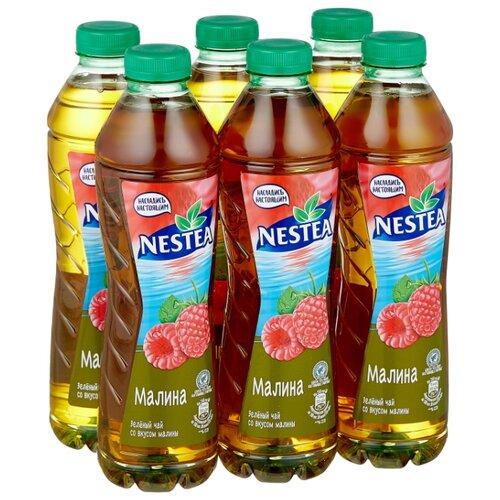 Чай Nestea Зеленый со вкусом малины, ПЭТ, 1 л, 6 шт.