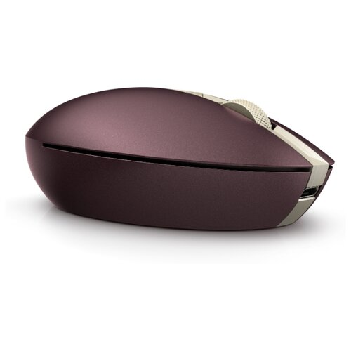 Мышь HP Spectre Mouse 700 Burgundy 5VD59AA dark Red Bluetooth красный мышь hp essential usb mouse 2tx37aa 2tx37aa