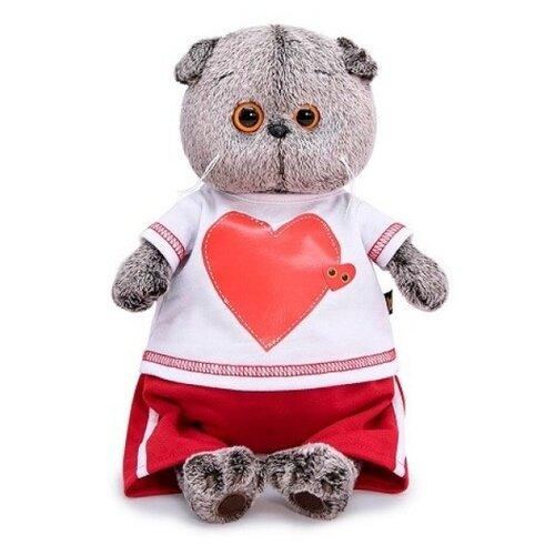 Купить Мягкая игрушка Basik&Co Басик в футболке с сердцем 25 см, Мягкие игрушки