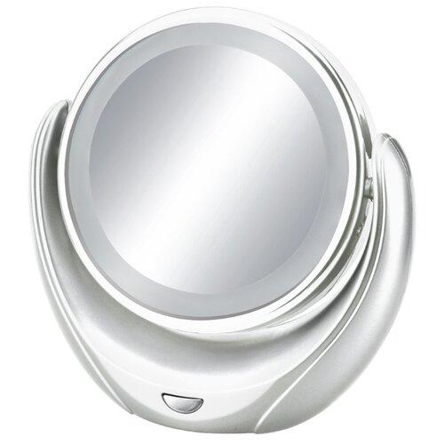Зеркало косметическое настольное MARTA MT-2655 с подсветкой белый жемчуг зеркало косметическое настольное marta mt 2653 с подсветкой молочный жемчуг