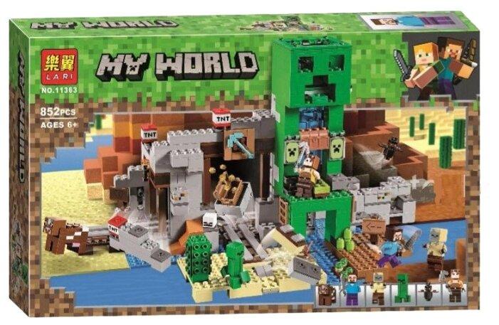 Конструктор BELA (Lari) My World 11363 Шахта Крипера Майнкрафт