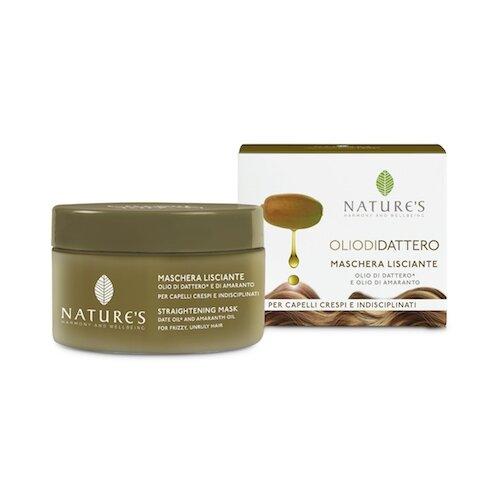 Nature's OLIO DI DATTERO Straightening Mask with Organic Date oil anche Amaranth Маска для волос выпрямляющая, 200 мл organic oil маска для всех
