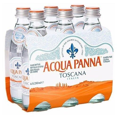 Минеральная вода Acqua Panna негазированная, стекло, 6 шт. по 0.25 л gironacci 550 nero panna
