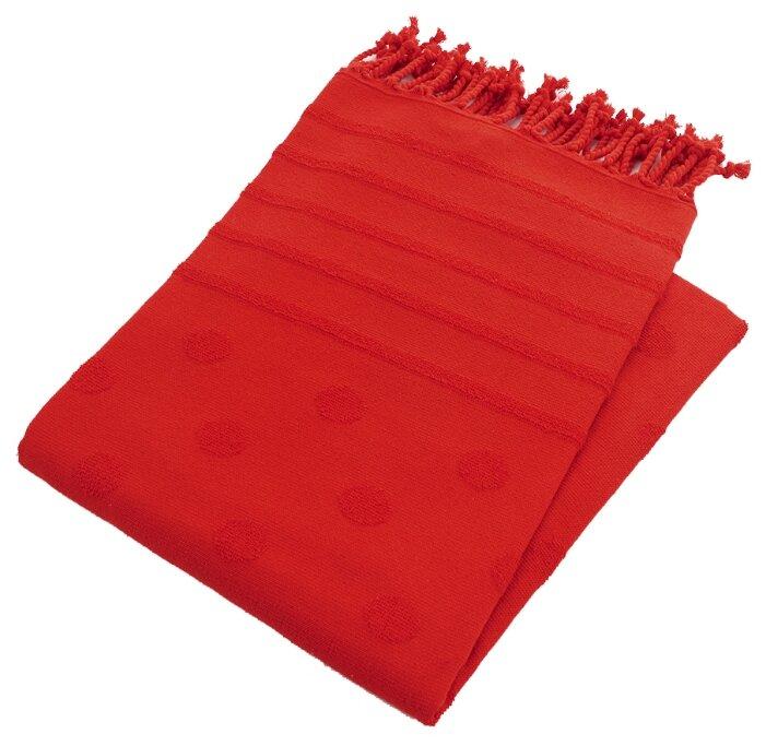 Allegro Полотенце WELLNESS с жаккардом в горошек универсальное 90х160 см красный