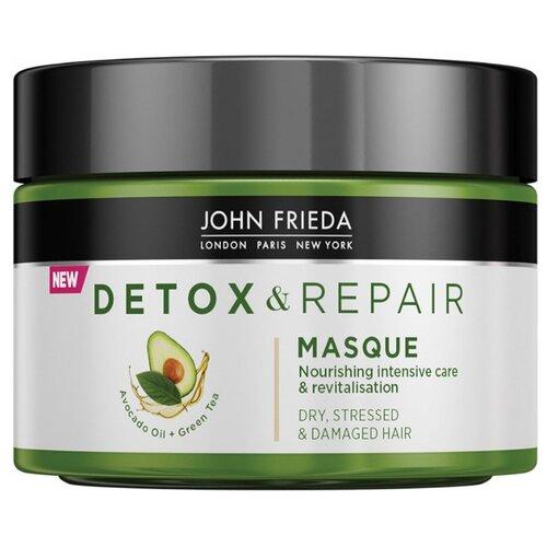 John Frieda Detox & Repair Питательная маска для интенсивного восстановления волос, 250 мл john frieda несмываемый спрей для укрепления волос с термозащитой detox