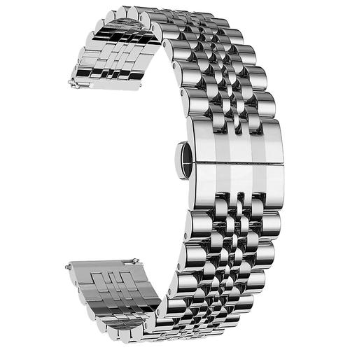Lyambda Универсальный ремешок из нержавеющей стали Castor 22 mm серебристый