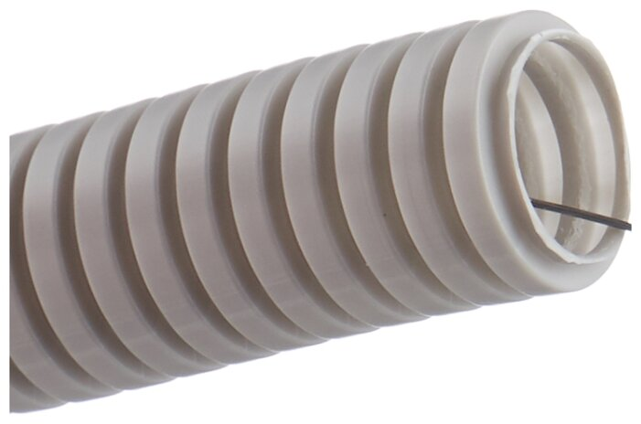 Труба гофрированная ПВХ с зондом IEK 25 мм x 50 м
