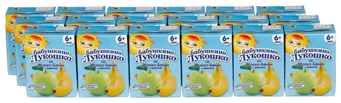 Сок с мякотью Бабушкино Лукошко яблоко-банан (Tetra Pak), c 5 месяцев