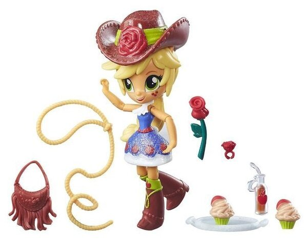 Мини-кукла My Little Pony Equestria Girls Девочки из Эквестрии Эпплджек, 12 см, E2235
