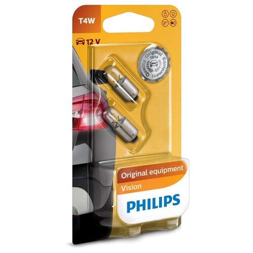 Лампа автомобильная накаливания Philips Vision 12929B2 T4W 4W 2 шт. лампа автомобильная накаливания philips 12594cp p21 4w 21 4w 1 шт