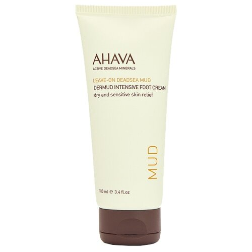 Фото - AHAVA Крем для ног Ahava Leave-on Deadsea Mud 100 мл туба крем для бритья без пены 200 мл ahava men energize