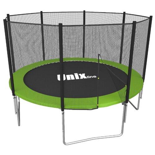 Каркасный батут Unix Line 10ft Simple (outside) 305х305х241 см зеленый