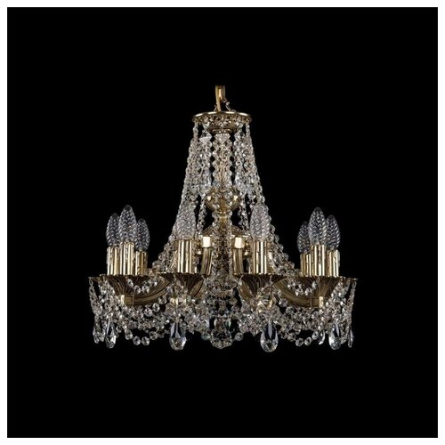 Люстра Bohemia Ivele Crystal 1771 1771/10/150/C/GB, E14, 400 Вт люстра bohemia ivele crystal 1771 1771 16 410 c gb sh37 160 e14 640 вт