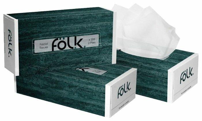 Салфетки бумажные FOLK Салфетки Folk зеленые, 9355, Целлюлоза