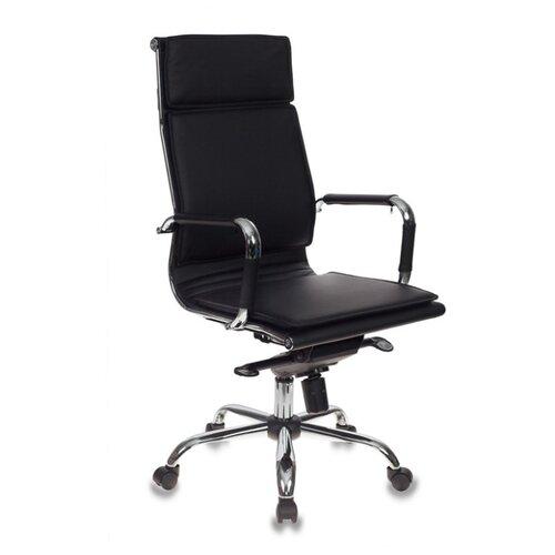 Компьютерное кресло Бюрократ CH-993MB для руководителя, обивка: искусственная кожа, цвет: black кресло руководителя бюрократ ch 993mb на колесиках искусственная кожа черный [ch 993mb black]