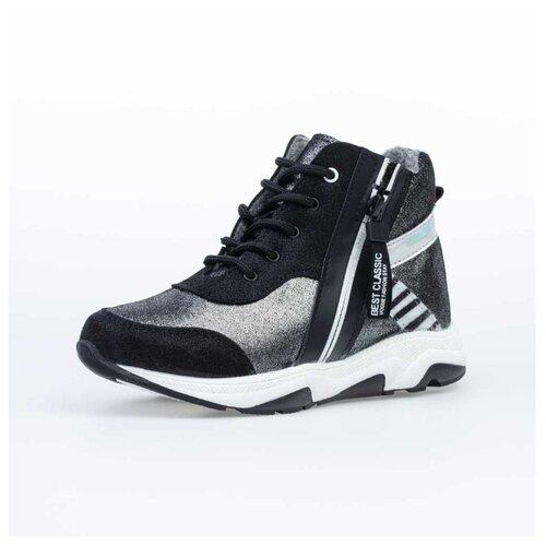 Ботинки КОТОФЕЙ размер 32, черный/серебристый ботинки t taccardi размер 32 черный