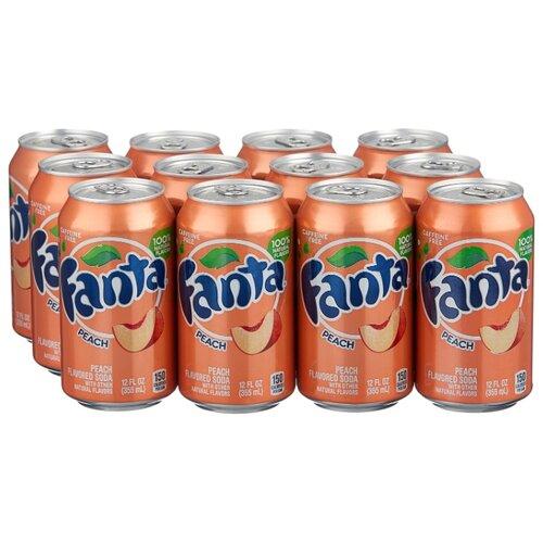 Газированный напиток Fanta Peach, США, 0.355 л, 12 шт.