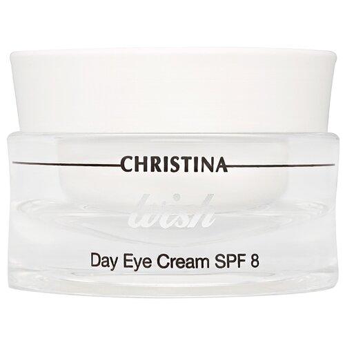 Крем Christina Wish дневной SPF8 для кожи вокруг глаз 30 мл christina silk крем для подтяжки кожи в области глаз 30 мл
