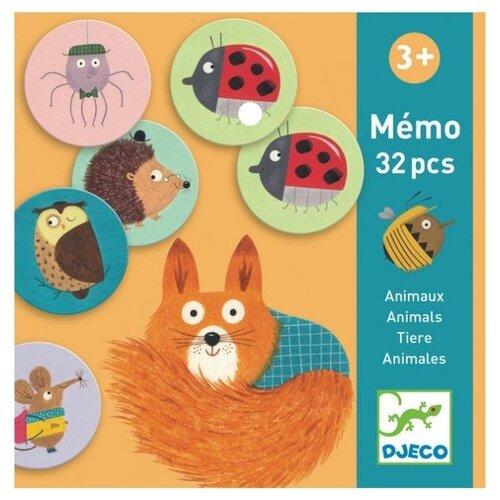Настольная игра DJECO Мемо Животные шпаргалки для мамы настольная игра мемо 1