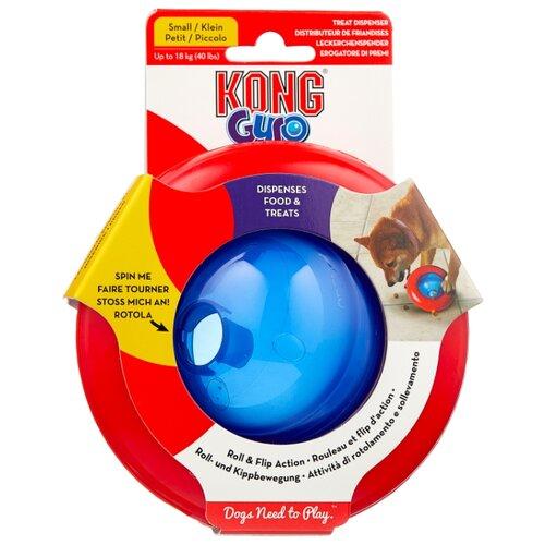 Игрушка для собак KONG Gyro под лакомства малая (PGY3E) синий/красный