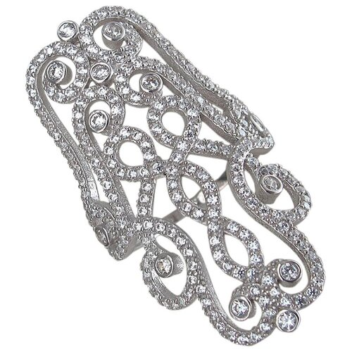 Эстет Кольцо с фианитами из серебра 01К1510690, размер 18.5 ЭСТЕТ