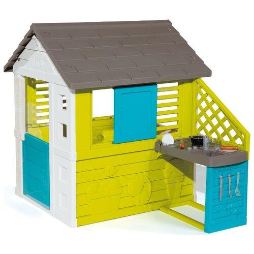 Купить Домик Smoby С кухней 810702/810703, 810711/810713 синий, Игровые домики и палатки