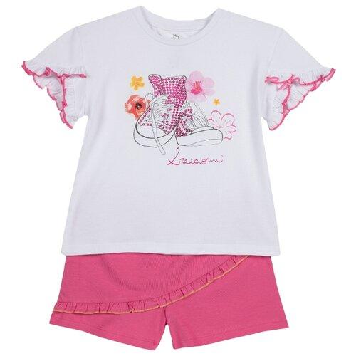 Купить Комплект одежды Chicco размер 98, белый/розовый, Комплекты и форма