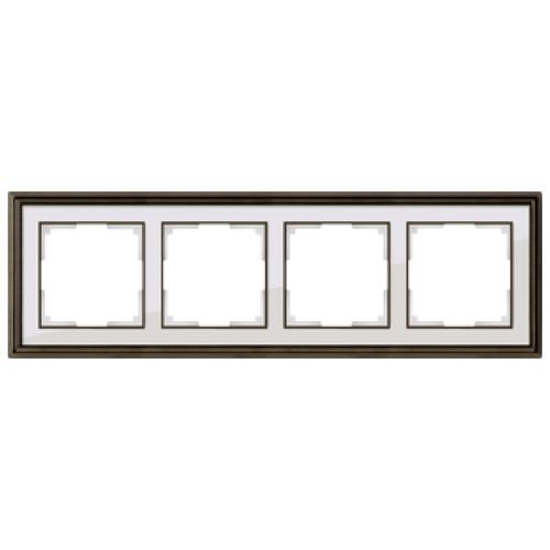 Фото - Рамка 4п WerkelWL17-Frame-04, бронза/белый рамка werkel antik бронза wl07 frame 02