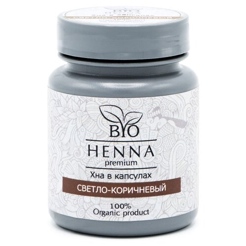 Bio Henna Хна для бровей 30 капсул x 0.2 г светло-коричневый