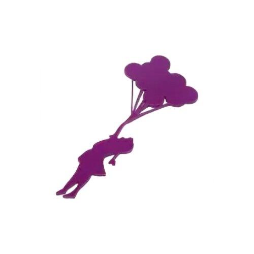 Наклейка на выключатель DS Studio Шарики - радость, объемная (фиолетовая)