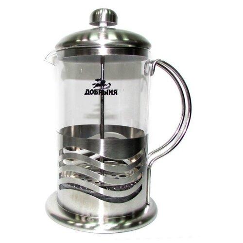 Френч-пресс Добрыня DO-2803-4 (0.8 л) бесцветный/серебристый недорого