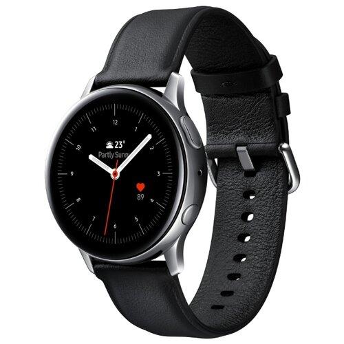 Умные часы c GPS Samsung Galaxy Watch Active2 cталь 40 мм сталь умные часы c gps samsung galaxy watch active2 алюминий 44 мм ваниль