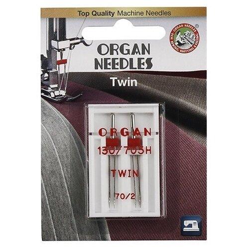 Игла/иглы Organ Twin 70/2 серебристый