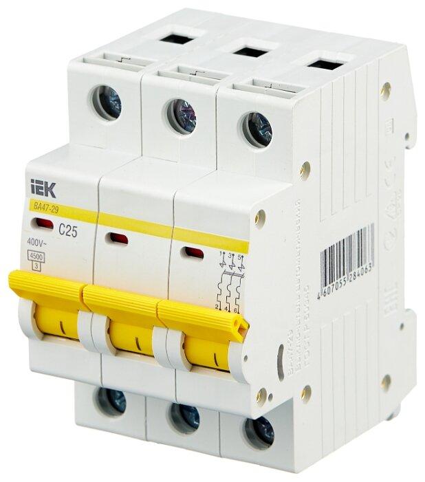 Автоматический выключатель IEK ВА 47-29 3P (C) 4,5kA